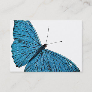 01b96528498b4 Vintage Blue Morpho Butterfly Customized Template Business Card