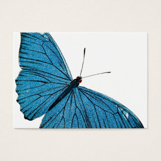 Vintage Blue Morpho Butterfly Customized Template Business Card