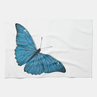 Vintage Blue Morpho Butterfly Customized Template Kitchen Towels