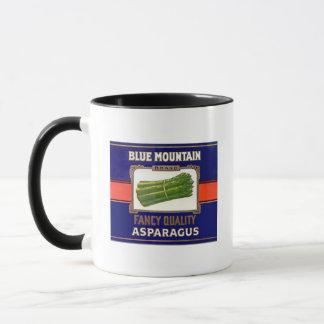 Vintage Blue Mountain Brand Asparagus Label Mug