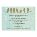 Vintage Blue Music Birds Hotel and Direction Cards Chubby Business Cards