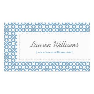 Vintage Blue Pattern - Designer, Salon, Stylist Business Card Templates
