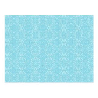Vintage Blue Pattern Postcard