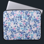 "Vintage Blue Pink Cute Roses Floral Pattern Computer Sleeve<br><div class=""desc"">A Vintage Blue Pink Cute Roses Floral Pattern. A shabby chic girly pink and blue cute vintage floral design on white background.Get this chic pastel colors floral design pattern for her or anyone on any occasion. The perfect romantic gift idea.</div>"