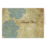 Vintage Blue Queen Ann's Lace Thank You Card