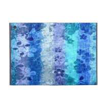 Vintage blue retro floral pattern 4 case for iPad mini