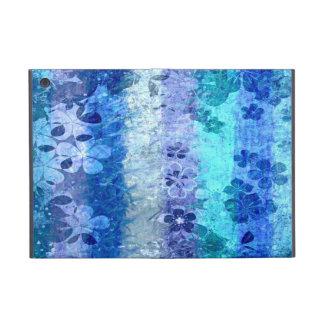 Vintage blue retro floral pattern 4 case for iPad mini