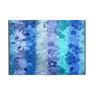 Vintage blue retro floral pattern 4 iPad mini cases