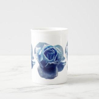 Vintage blue rose tea cup