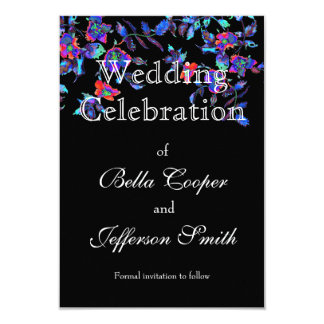 Vintage blue Rose - wedding invitation