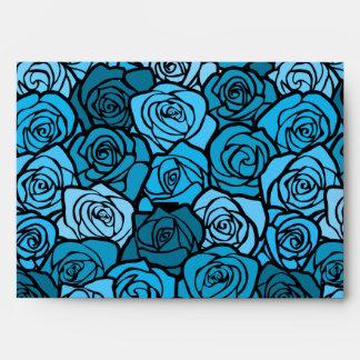 Vintage blue roses Envelope