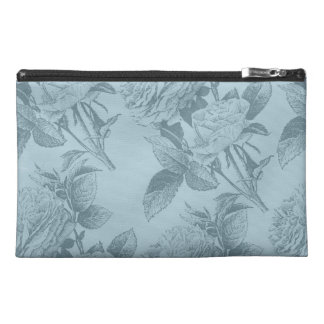Vintage Blue Roses Travel Accessories Bags