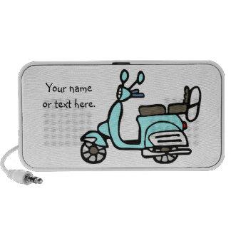 Vintage Blue Scooter Mini Doodle Speaker