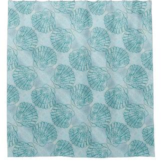 Vintage Blue Pattern Shower Curtains | Zazzle