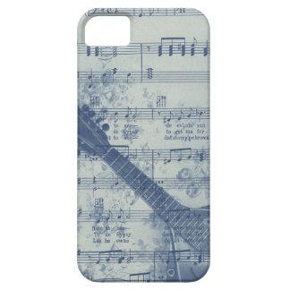 Vintage Blue Sheet Music Banjo Distressed iPhone SE/5/5s Case