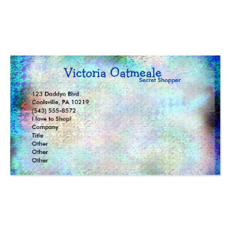 Vintage Blue Stain Double-Sided Standard Business Cards (Pack Of 100)