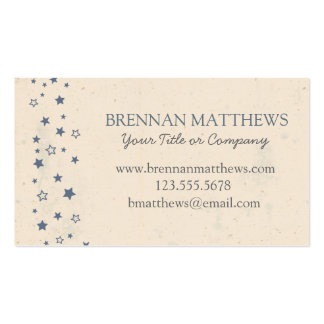 Vintage Blue Stars Business Card - Personalize