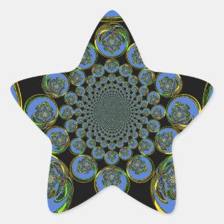 Vintage Blue Star Sticker
