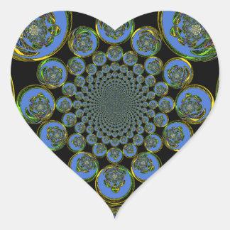 Vintage Blue Heart Sticker