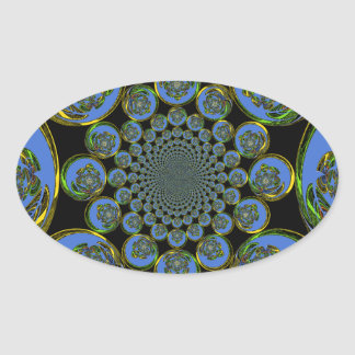 Vintage Blue Oval Sticker