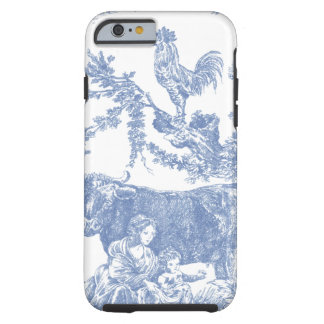 Vintage Blue Toile pattern - Cow & Roster Tough iPhone 6 Case