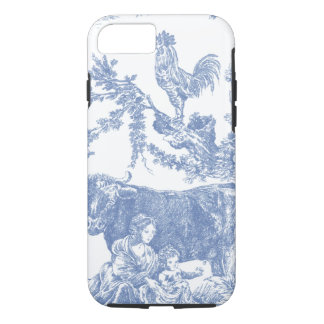 Vintage Blue Toile pattern - Cow & Roster iPhone 8/7 Case