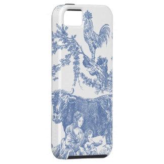 Vintage Blue Toile pattern - Cow & Roster iPhone SE/5/5s Case