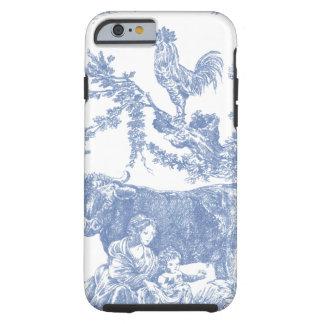 Vintage Blue Toile pattern - Cow & Roster Tough iPhone 6 Case