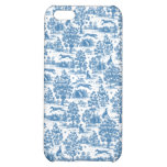 Vintage Blue Toile Touch  Case For iPhone 5C