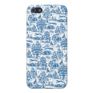 Vintage Blue Toile Touch  iPhone SE/5/5s Cover