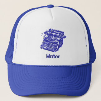 Vintage Blue Typewriter Trucker Hat