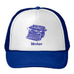 Vintage Blue Typewriter Trucker Hats