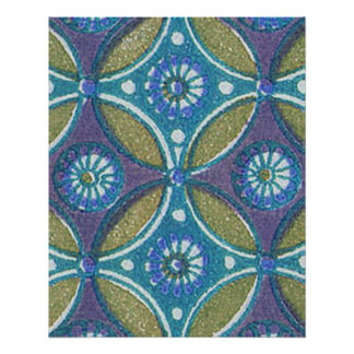 Vintage Blue wallpaper geometric Repeating pattern Perfect Poster