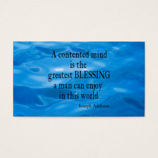 Vintage Blue Water Marine Sea Addison Mind Quote Business Card