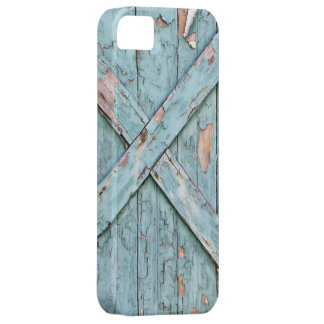 Vintage - Blue Weathered Paint iPhone 5 Covers