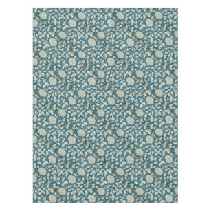 Vintage Blue U0026 White Floral Print Tablecloth