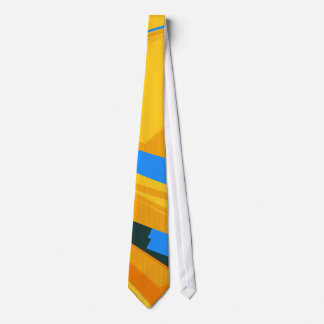 Vintage Blue Yellow Retro Painting Abstract Art 2 Neck Tie