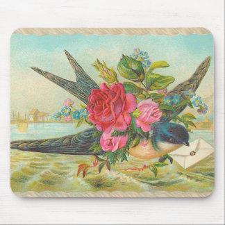 Vintage Bluebird Mouse Pad