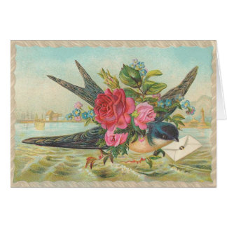 Vintage - Bluebird Of Love Happiness Cards