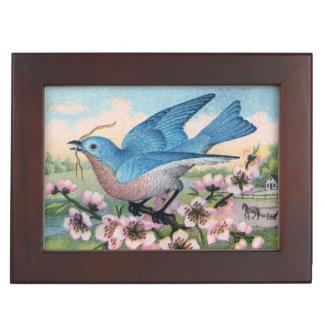 Vintage Bluebird Keepsake Box