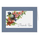 Vintage Bluebird Thank You Greeting Card