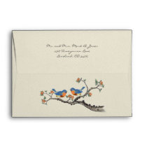 Vintage Bluebird Wedding Envelopes