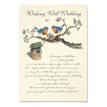 Vintage  Bluebirds Blooming Branch Wedding 3.5x5 Paper Invitation Card