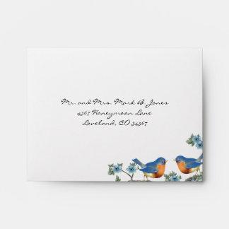 Vintage Bluebirds Blue Blooms Envelopes