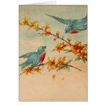 Vintage Bluebirds Greeting Card