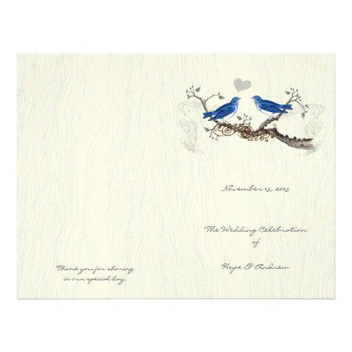 Vintage Bluebirds  Woodgrain Program Full Color Flyer