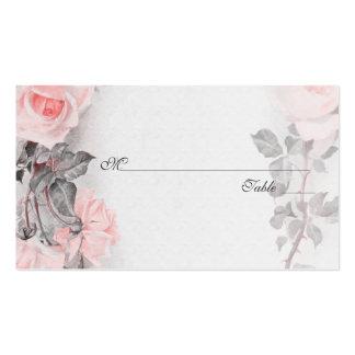 Vintage Blush Pink Rose Wedding Place Cards