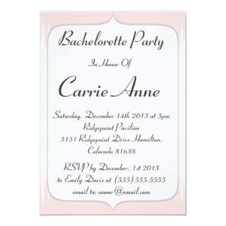 Vintage Blush Pink Spikes Bachelorette Party Card