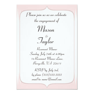 Vintage Blush Pink Spikes Engagement Party Card