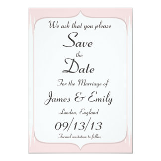 Vintage Blush Pink Spikes Save The Date Notice Card